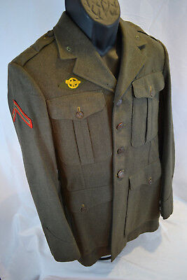 Original Wwii Usmc Named Dress Uniform  Tunic Coat 1944