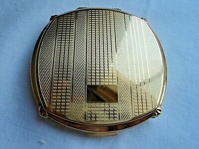 Vintage STRATTON Convertible Compact - Goldtone pattern