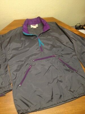 Vtg EMS Eastern Mountain Sports Pull Over Hooded Nylon Parka Anorak Jacket L