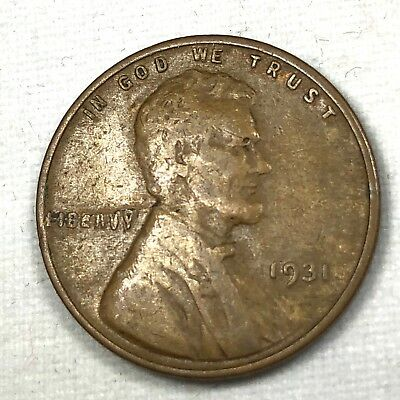 Genuine 1931 Lincoln Head Penny Substantial Mint Error Coin