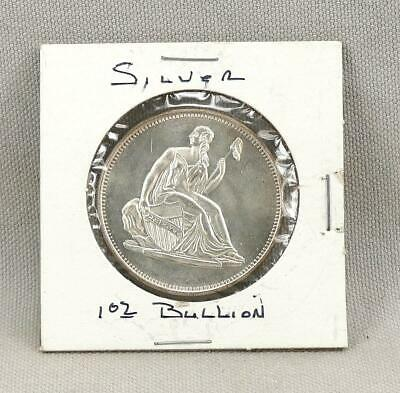 Seated Liberty One Troy Ounce .999 Silver Round!