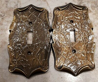 Set of Two - NEW  Amerock Carriage House Toggle Switch Plate Antique Brass