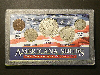 US Americana Series 5 Coin Set 1902 to 1913 The Yesteryear Collection  #G5451
