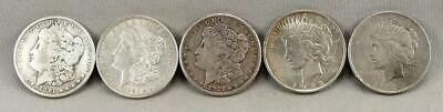 5 Different Morgan & Peace Silver Dollars! Winner Takes All! NO Reserve!