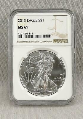 2013 AMERICAN SILVER EAGLE!  NGC MS 69!  Near Perfect!