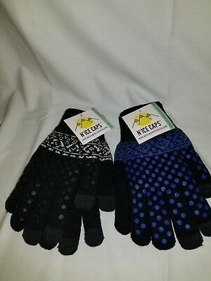 1013JFG Kids/' Two Tone Smartphone Usable Touchscreen Sensitive Winter Gloves