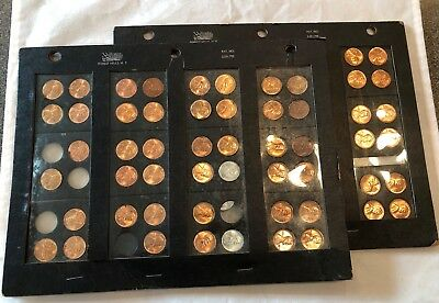 57- Piece Bu Lincoln Wheat Penny Collection 1938-1958 With Mint Marks