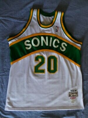 save off 1c6bc 7aa55 MITCHELL NESS M&N Seattle Super Sonics Authentic Gary Payton Jersey 52 2XL  XXL