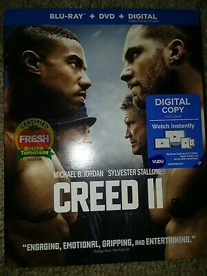Creed II Blu-ray & DVD Brand new w/ slipcase, factory sealed Free Shipping!