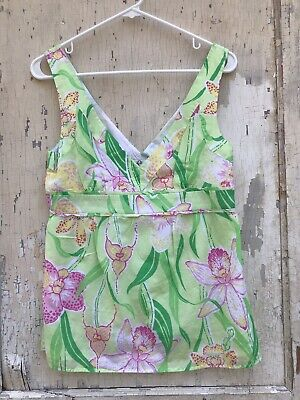 ceac58a8a031 Lilly Pulitzer Silk Cotton Blend Sleeveless Top Size 8 Orchids