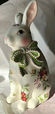 "❤️ Royal Albert OLD COUNTRY ROSES Rare BUNNY RABBIT FIGURINE 12 1/4"" Lovely! ❤️"