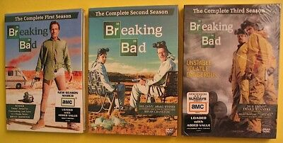 BREAKING BAD The Complete First Second & Third Season 3 DVD Box Sets NEW SEALED