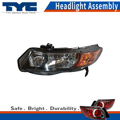 Headlight Set For 2004-2005 Honda Civic Hatchback Left and Right 2Pc