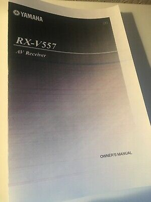 Yamaha RX-V557 Receiver Owners Manual