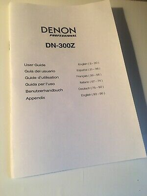 Denon DN-300z Media Player Owners Instruction Manual