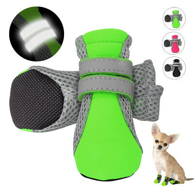 4pc Dogs Shoes Outdoor NonSlip Anti-stain Dog Socks Reflective Dog Booties Shoes