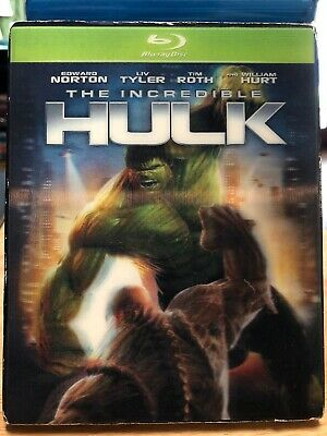 The Incredible Hulk (Blu-ray Disc) w/OOP Rare Green Slipcover & Case Marvel MCU