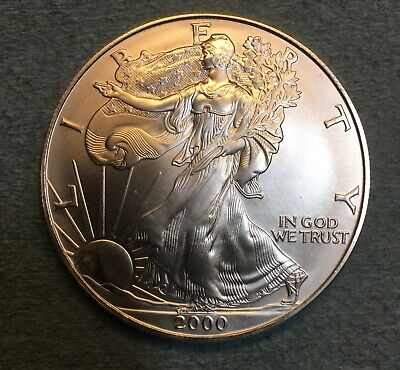 2000 Silver American Eagle BU 1 oz. Coin US $1 Dollar U.S. Mint Uncirculated