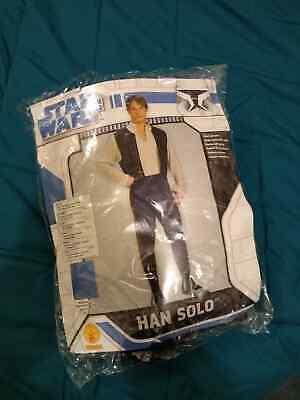 Deluxe Han Solo Star Wars Adult Mens Fancy Dress Up Party Costume Outfit