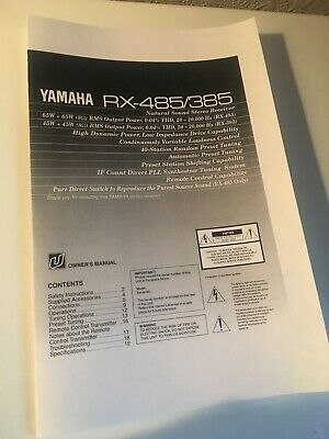 Yamaha RX-485 Receiver Owners Manual