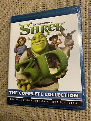 Shrek 1 2 3 4 3D Blu-Ray Complete Collection BRAND NEW Sealed - OOP