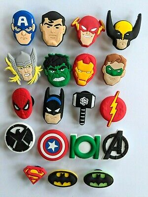 Avengers Marvel Crocs / Mule / Clog Shoe Charms  / Cake Toppers Us Seller