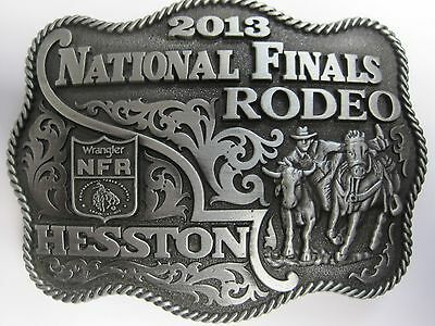 National Finals Rodeo Hesston 2013 NFR Adult Cowboy Buckle New Wrangler AGCO