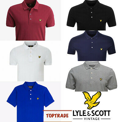 LYLE AND SCOTT Polo Short Sleeve 100% Cotton Collared Neck Tshirt