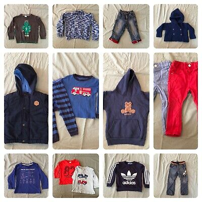 Boys Winter Bundle Size 1 & 2 - Pants, Jumpers, Tops. 15 Items!!