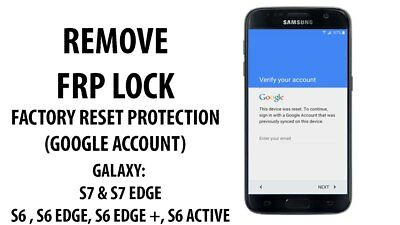 Google account FRP bypass removal for Samsung galaxy S7 & S7 edge  U9 supported