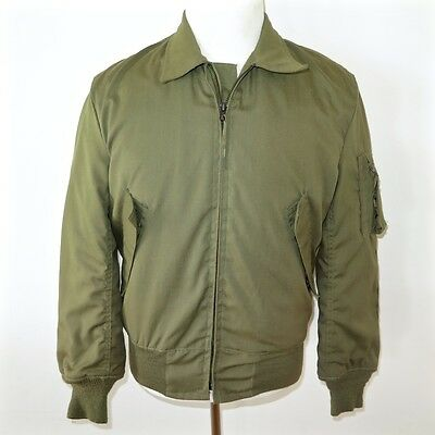 Vintage Original Us Army Jacket Cold Weather 1991 Aramid Size Small Long Nos