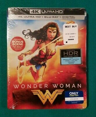 Wonder Woman Best Buy Exclusive Steelbook (Blu-ray + 4K UHD) BRAND NEW!! READ!