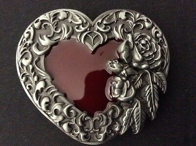 New Western Rose Heart Belt Buckle