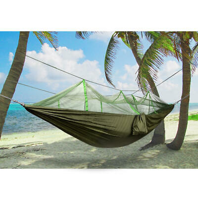 Nylon Double Camping Hammock with Mosquito/Bug Net, Supports Up to 440 Pounds