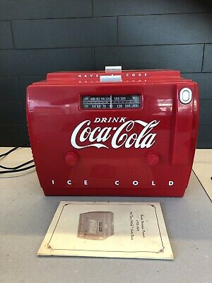 Vintage Coca Cola Radio Cassette Player. Old Tyme 1989