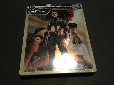 New Captain America First Avenger 4K Ultra HD/Blu-ray/DC Steelbook™ Bestbuy USA