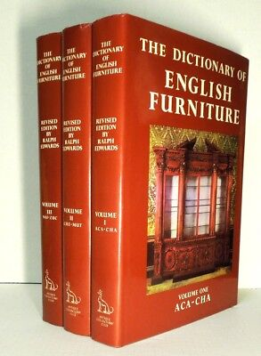 The Dictionary of English Furniture by Ralph Edwards 1983 Antique Collectors Ed.