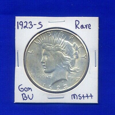 1923-S Peace Silver Dollar Uncirculated BU Mint State Rare Date MS US Coin
