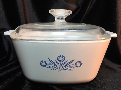 Corning Ware Blue Cornflower 1 3/4 Qt Dutch Oven Casserole Dish, Pan, Pot & Lid