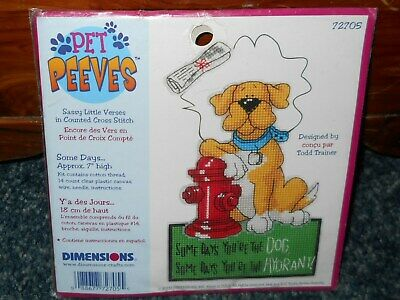 Dimensons Pet Peeves Counted Cross Stitch Kit ~ Some Days ~ NIP