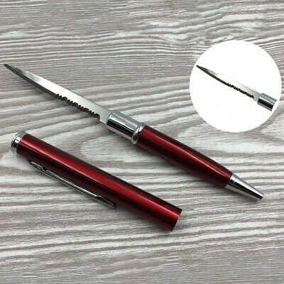 1x Self-defense Knife Ball-point Pen Knife Tactical Anti Wolf Pencil Sharpener