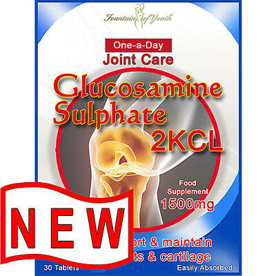 JOINT CARE GLUCOSAMINE 2KCL 1500mg 30 ONE-A-DAY TABLETS, PREMIUM MAX STRENGTH
