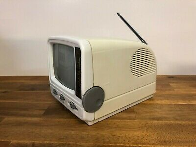 Computec SFTV-552 Portable Black and White TV With AM/FM Radio By Kenmark
