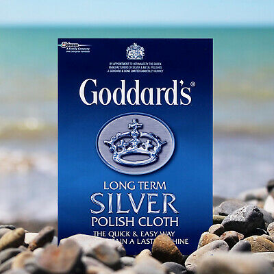 Goddard's Long Term Silver Polish Cloth Quick & Easy Way And Long Way to Shine