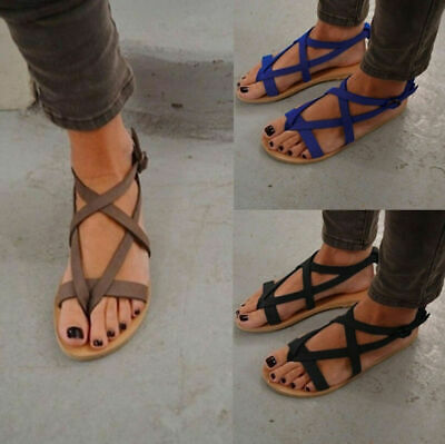 bff34b6ee new Women Ladies Flip Flops T-Strap Gladiator Thong Sandals Strappy Beach  Shoes