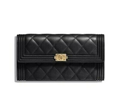 a501e663861038 Chanel Boy Chanel Long Gusset Flap Wallet Quilted Lambskin & Gold Tone Metal