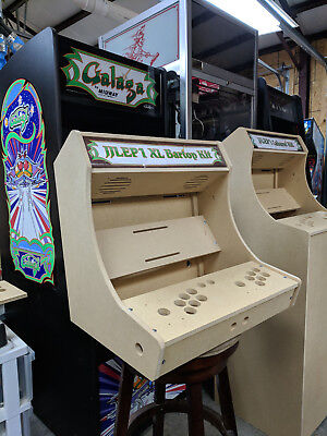 Easy to Assemble XL Bartop / Tabletop Arcade Cabinet Kit w/ Marquee Holder SANWA