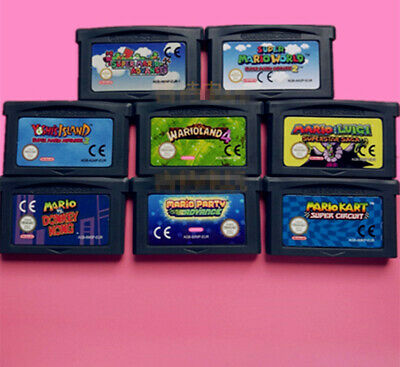 Game Boy Advance GBA Cartridge Console Card Mario advance Kart World yoshi bros