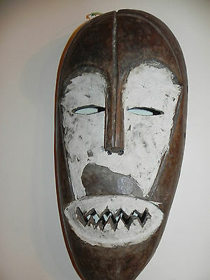 "Arts of Africa - Old -  Lega Warior Mask - DRC - Congo - 18"" Height x 9"" Wide"