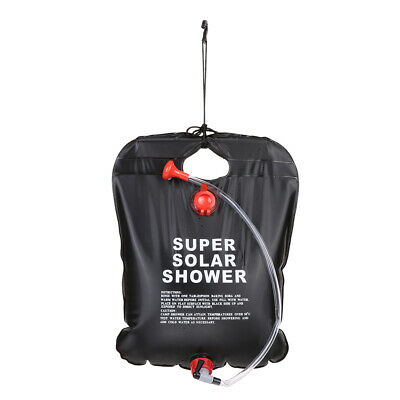 10L Camping Hiking Solar Heated Camp Shower Bag Outdoor Shower Water Bag R3M9